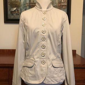 White House Black Market Grey Military Jacket 8